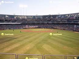 O Co Coliseum Seating Chart Baseball Oakland Athletics Seating Chart Map Seatgeek