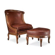 indonesian furniture manufacturers living room half round leather chair with footrest
