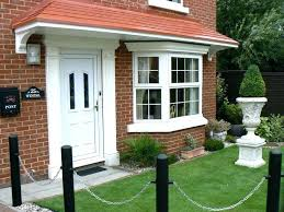 full image for glass awning residential front door cottage canopy examples uk