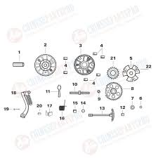 cc gy kick start spindle gy cc kick start spindle gear 12 13 14 15 16 in the diagram gy6 125cc 150cc variator roller weights