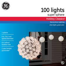 Super Sphere Lights Ge 75906hd Holiday Christmas Classic 100 Light Clear Super