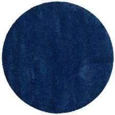 milan navy 10 ft x 10 ft round area rug