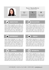My Resume Best My First Resume Template For Kids