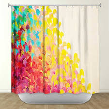 colorful shower curtains. CREATION IN COLOR Fine Art Painting Shower Curtain Washable Floral Home Decor Colorful Rainbow Cheerful Ocean Curtains R