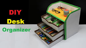 Diy Desk Organizer How To Make A Diy Desk Organizer Using Cardboard Youtube