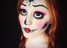 11 photos of the broken doll makeup tutorial