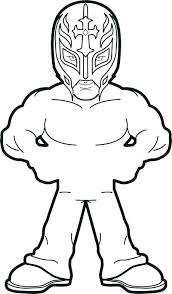 Coloring Pages Rey Mysterio Home Improvement Sin And Wwe Cara