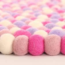 pink kids rugs pink rugs for girls rosenberry rooms marshmallow felt ball rug