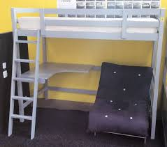 pluto study bunk bed with desk and