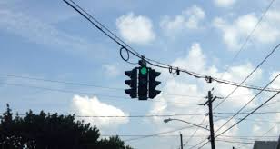 upside down traffic signal in tipperary hill syracuse ny