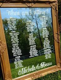 Mirror Table Seating Chart Mirror Seating Chart Decoration Image Ideas