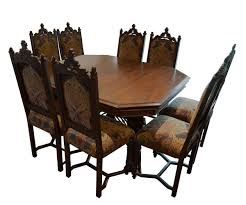 gothic style dining table with 8 chairs sold outsold out