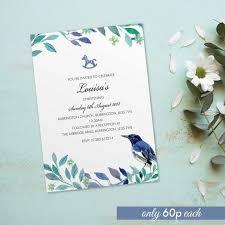 baptism cards christening baptism invitations for boys for girls invites cards personalised bird vintage design 10 pack bdf_10