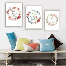 office canvas art. nordic beautiful flowers home sweet quote canvas art painting print poster office wall pictures
