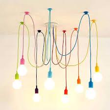 colorful pendant lights details about art colorful pendant lights spider chandelier silicone hanging ceiling lamp colorful