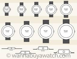 Mens Watch Case Size Chart Watch Sizing Guide