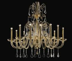 designer brass hanging chandelier