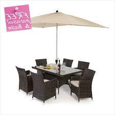 rectangular patio furniture covers. Maze Rattan Baby La 6 Seat Dining Set 1 5m X 1m Rectangular Table Patio Furniture Covers