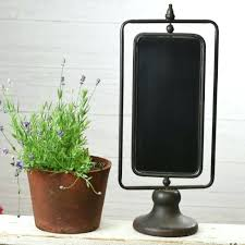 double sided glass picture frame 8x10 metal 2 spinning chalkboard antique farmhouse 1