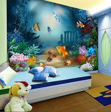 2013hotMaterial Factory Large Mural / Childrenu0027s The Room Bedrooms  Background Undersea Fish Bedroom / Wallpaper Wallpaper