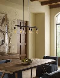 outfit your dining area with the swing chandelier by progress lighting for a farmhouse chic interior design