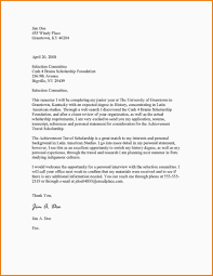 8 Scholarship Letter Examples Quote Templates