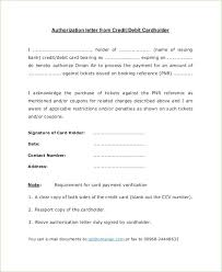 Authorization Letter For Use Of Credit Card Sample Bank Transactions ...