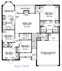 1500 sq ft ranch house plan stunning plans under with basement