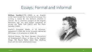 formal essay and informal familiar essay jpg cb  the interlopers short story theme essay