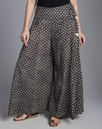 Designer Palazzo Pants Online India Fabindia Com Cotton Mull Printed Flared Palazzo Clothes