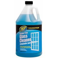 enforcer zu1120128 128 oz zep streakfree glass cleaner refill pack of 4 zep drain cleaner g44