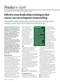 leadership skills for nurses  leadership supplement nursing xx nursingtimes net 6