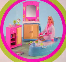 barbie decor collection dolls house furniture bathroom brand new in box no longer available in stores barbie doll house furniture sets