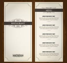 menu template free free menu card templates for pages 18 vintage menu templates free