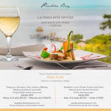 Meal Plans | Pristine Bay Resort | Pristine Bay Resort
