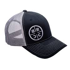 BRCC Circle Logo Trucker Hat - Black w/Grey Mesh \u2013 Rifle Coffee Company