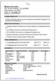 resume format for ca articleship 2 resume format for articleship