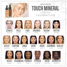 Younique Touch Foundation Color Chart Younique Touch Liquid Foundation New Color Chart Younique