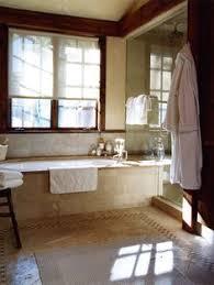 mediterranean bathroom raised bathtub
