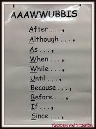 Anchors Aaawwubbis Complex Sentence Structures