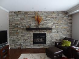 Eldorado Thin Stone Fireplace Feature Wall craftsman-living-room