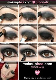 goth make up step by step tutorial for nightfall black eyeshadow made easy