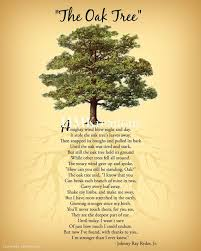 Tree Quotes Adorable Oak Tree Poem Encouraging Tree Poem Quote Nature Wall Art