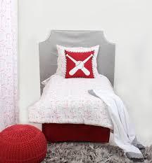 home toddler bedding boys toddler bedding bacati baseball red grey muslin 4 pc toddler bedding set