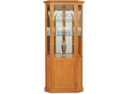corner furniture design. light brown rectangle rustic wooden corner china cabinet ideas vase with glass marvelous furniture design