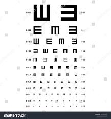 Eye Test Chart E Chart Vision Stock Illustration 1037070265
