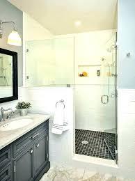 half shower door how to build a wall bathroom with jamb hardware gold doors