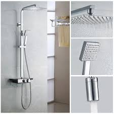 Details Zu Duschsystem Brausearmatur Duschpaneel 3 Funktion Regendusche Duscharmatur Regal