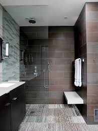 bathroom tiles designs gallery. #Contemporary #bathroom #design With An Open #shower And Large Tiles Bathroom Designs Gallery