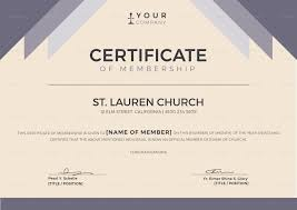 Brilliant Ideas Of Free Church Membership Certificate Template For